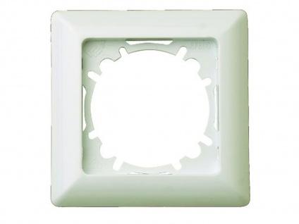 1-fach Rahmen/Blende aus Kunststoff, in Cremeweiß, eckig, GAO