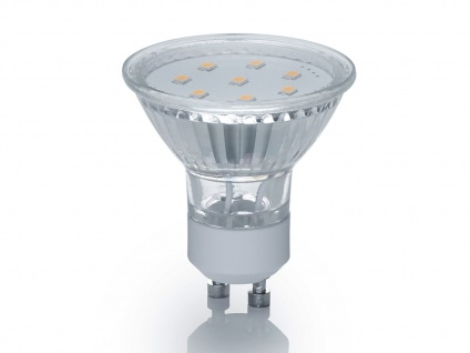 SMD-LED-Leuchtmittel mit GU10 Sockel Reflektor 3W & 250Lm warmweiß nicht dimmbar