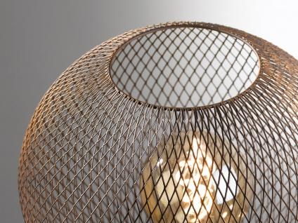 Vintage Tischleuchte BIRNE aus rostfarbenem Metall, Tischlampe im Industrielook - Vorschau 3