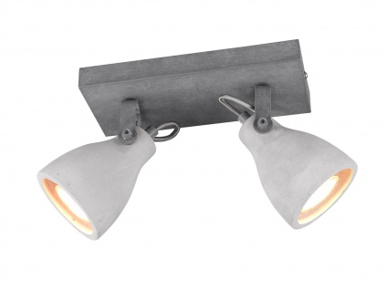 LED Deckenstrahler Industriedesign Betonlampe 2 flammig Betonoptik Küchenlampen