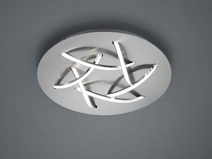 Ausgefallene LED Schlafzimmerleuchte Ø 45cm Nickel matt/weiß mit Switch Dimmer - Vorschau 5