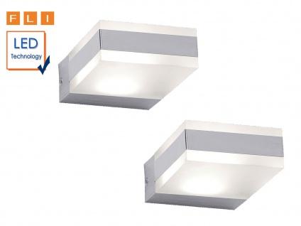 2er Set eckige Design LED Wandleuchten, Wohnzimmerlampen Flurlampen Wandlampen