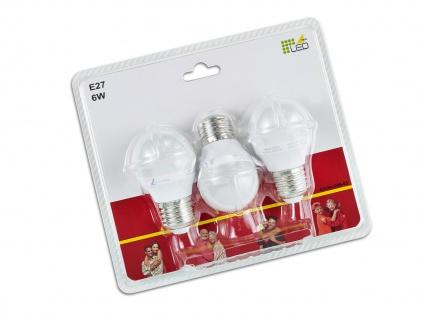 Nicht dimmbares E27 LED Leuchtmittel 3er SET warmweiß 5W & 400lm, tropfenförmig - Vorschau 3