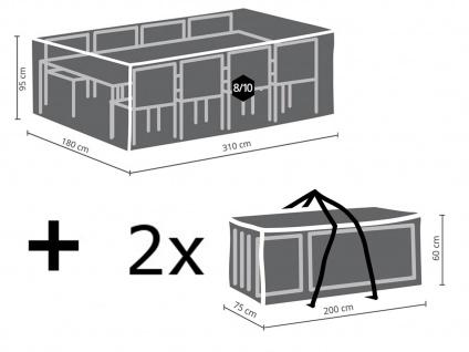 Schutzhüllen Set XXL: Abdeckung für Gartenmöbel 310x180cm + 2x Polsterhülle - Vorschau 2