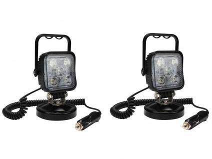 LED Scheinwerferset Arbeitsleuchten mit Magnet Werkstattlampe Zigarettenanzünder