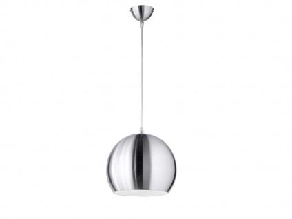 Schöne Pendelleuchte 1 flammig Metall Lampenschirm in Silber für Esszimmertisch