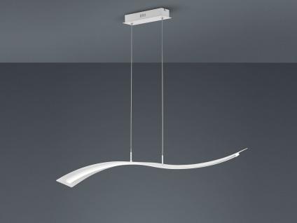 Geschwungene LED Pendelleuchte Design Wellenform Weiß mit Switch Dimmer Funktion