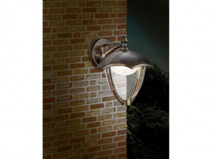 LED Außenwandlampe 2er Set Außenlaterne Rostoptik Terrassenbeleuchtung Landhaus - Vorschau 3