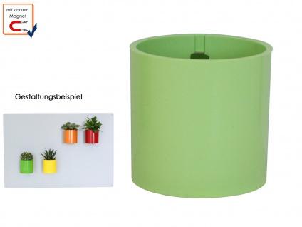 Kunststofftopf m. Magnet Ø 6cm Limegrün, Wanddeko Wandaufbewahrung, KalaMitica