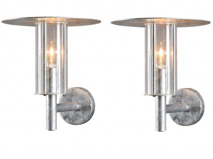 2er Set Konstsmide Außenwandleuchte MODE bruchsicher, Lampe Hauswand Terrasse
