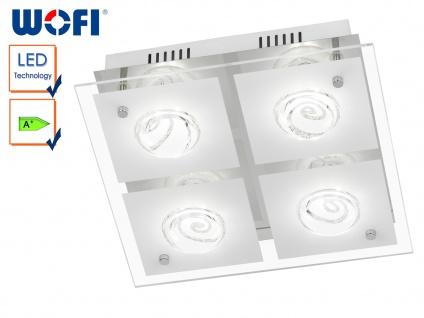 4-flammige LED Deckenleuchte TYRA, 30x30 cm, LED Deckenlampen, Deckenlampe