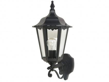 Außenwandleuchte Design klassisch schwarz Außenlampe Laterne Fassadenbeleuchtung