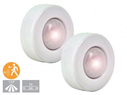 2er-SET LED Nachtlichter mit Bewegungsmelder, Orientierungslicht Schranklicht
