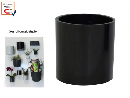 Wandaufbewahrung Wanddeko Kunststofftopf mit Magnet Ø 10 cm, KalaMitica