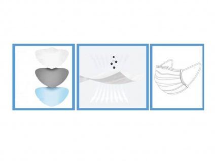 50 Stück Einwegmasken 3 lagig Hygienemasken Mundmasken Atem Behelfsmasken - Vorschau 5