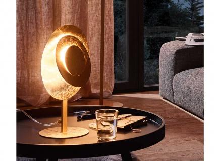 Design LED Nachttischleuchte 12 Watt Goldfarben Höhe 35 cm elegante Dekoleuchten