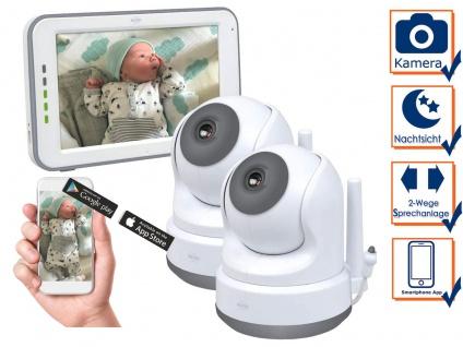 Babyphone mit 2 Kameras und APP - über Smartphone Handy für Android & iphone