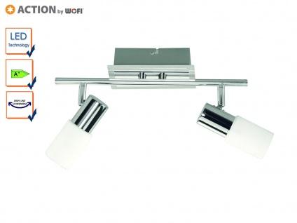 LED Deckenlampe schwenkbar, Glaszylinder weiß, Action by Wofi