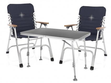 SET für 2 Personen stabiler klappbarer Campingtisch höhenverstellbar Regiestühle - Vorschau 2