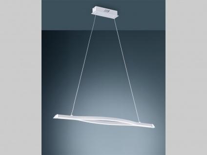 LED Innenbeleuchtung - weiße Pendelleuchte, 3 Stufen dimmbar, Metall & Acrylglas