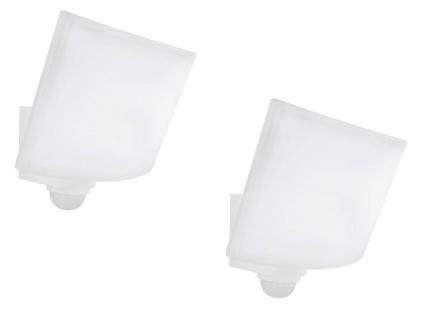 2er Set LED Außenwandlampen weiß mit Bewegungsmelder & Zeitschaltung, Handy App