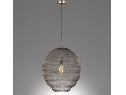 Design LED Pendelleuchte mit Lampenschirm altmessing 35cm, moderne Esstischlampe