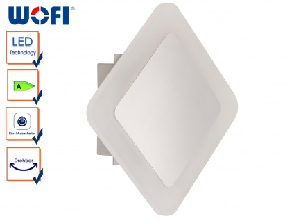 LED Wandleuchte IMPULS, 17, 5 x 17, 5cm, drehbar, Wandlampen Wandleuchte LED