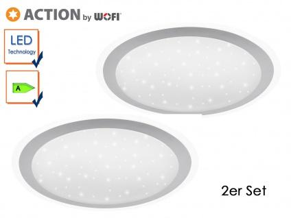 2er Set LED Deckenleuchte BLOOM, Ø 44 cm, Sternhimmel, LED Deckenlampen
