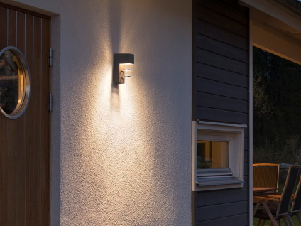 2er-Set Außenwandleuchten ACERRA anthrazit 5 Watt LED 400 Lumen IP54 - Vorschau 5