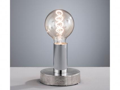 LED Retro Tischlampe, moderne Tischleuchte im Industrial Design, Wohnzimmerlampe