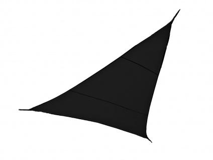 Sonnensegel Dreieck Dunkelgrau 3, 6m mit Stangenset für den Garten