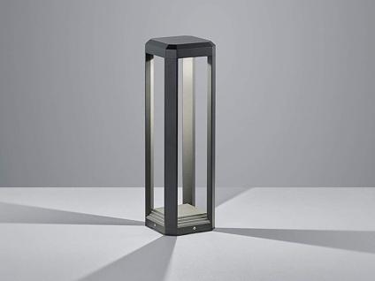 LED Außensockelleuchte eckig Anthrazit Outdoor Stehlampe für den Garten Weglampe