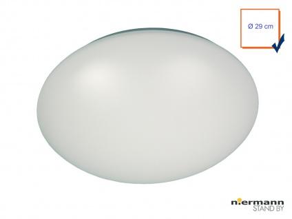 Deckenleuchte/Deckenschale rund, Kunststoff opalweiß, Ø 29cm Flurbeleuchtung