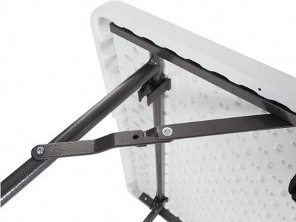 Robuster Klapptisch Kunststoff 180x70cm mit Stretch Husse - schwarz Gartentische - Vorschau 4