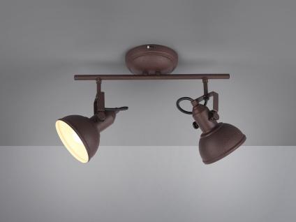 LED Deckenspot im Retro Look aus Metall in Rost dreh + schwenkbar Wandstrahler