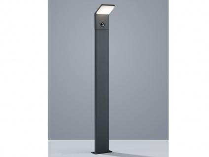 LED Pollerleuchte mit Bewegungsmelder Anthrazit 100cm Pfostenleuchte Wegeleuchte