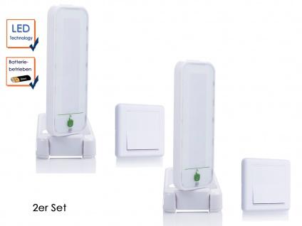2 Stk. drehbare Touch LED-Leuchten mit zusätzl. Schaltern, ideal als Nachtlicht
