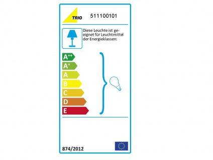 Design Tischlampen mit rundem Stoffschirm weiß Ø 30cm - fürs Wohnzimmerlampen - Vorschau 3