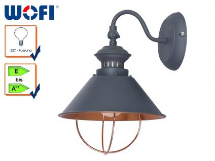 Retro Wandlampe FLORENCE, grau, Wandleuchte Wandlampen Retro Wandleuchte Vintage