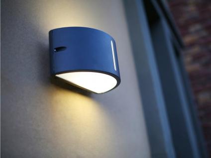 Halbrunde Außenwandleuchte Aluminiumguss B. 24, 9 cm IP44 Fassadenbeleuchtung - Vorschau 4