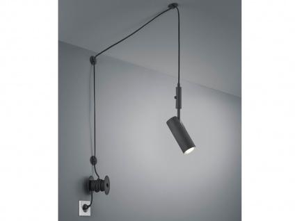 LED Pendellampe Schwarz matt mit Kabel & Stecker für Steckdose - Spot schwenkbar