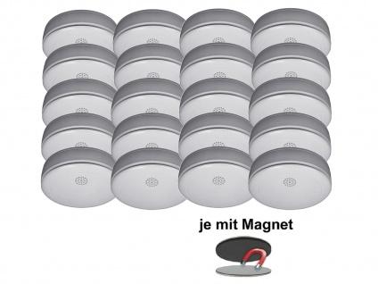 20er SET Rauchmelder 10 Jahres Batterie, VdS & Q-Siegel mit EASY Magnethalterung - Vorschau 2