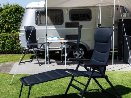 Bequemer Campingstuhl extra breit klappbar mit Beinablage - kleines Packmaß