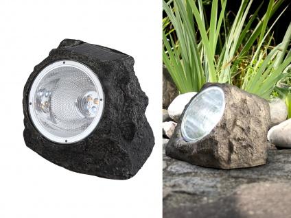 LED DEKO Solarstein für den Garten & Außenbereich IP44 geschützt Kunststoff grau