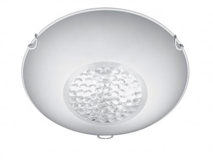 Deckenleuchte Deckenlampe CORMINT Chrom Glas weiß Kristall Ø 30cm - Vorschau 2