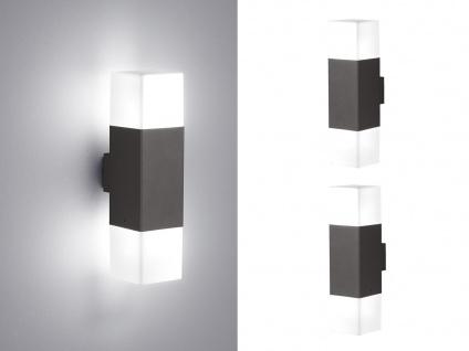 LED Außenwandlampen Anthrazit 2er SET Außenleuchte Terrassenbeleuchtung Hauswand