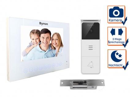 Moderne 1Familienhaus Videotürsprechanlage mit Kamera, 7Zoll Display & Türöffner