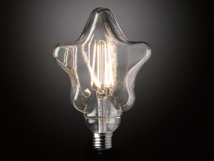 FILAMENT LED Leuchtmittel Sternform 4 Watt, 300 Lumen, 1800 Kelvin, E27-Sockel - Vorschau 4