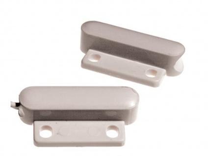 Mini-Magnetkontakt für Fenster und Türen, 3, 4 x 1, 5 x 0, 8 cm, Einbruchschutz