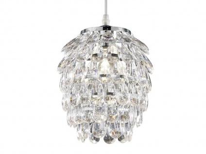 1 flammige Designer Pendelleuchte Lampenschirm Ø20cm mit Acryl Kristallbehang - Vorschau 3